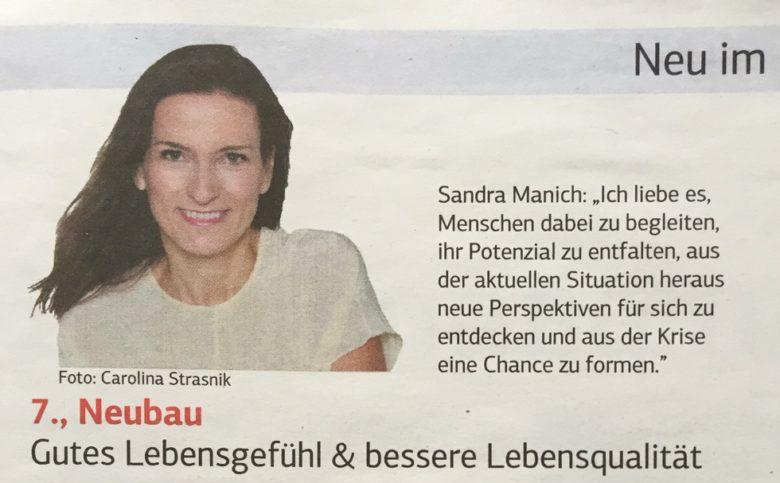 better life coach Sandra Manich in Wiener WIrtschaft